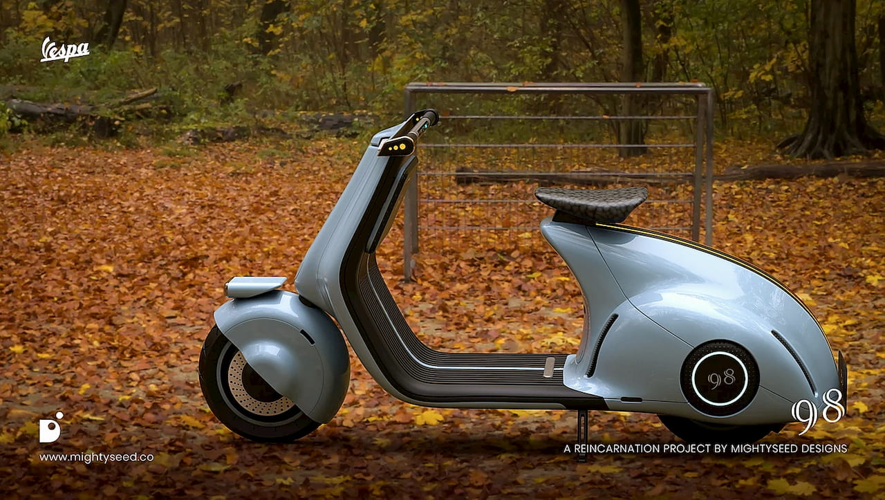 Vespa electric concept by Mightyseed side