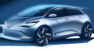 Vinfast electric car sketch released in 2018