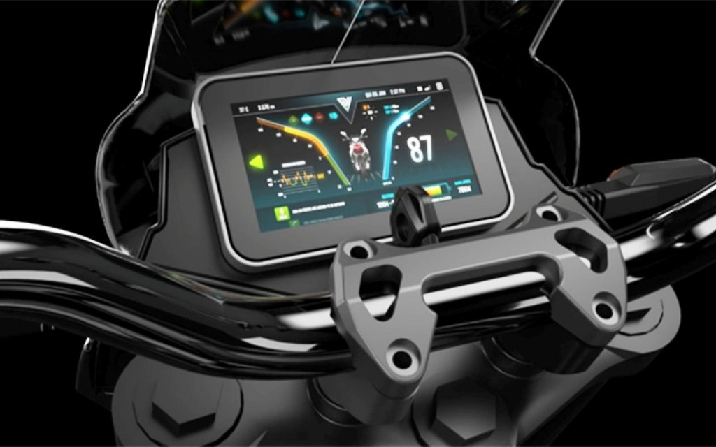 Voltz Motors EVS electric motorcycle dashboard