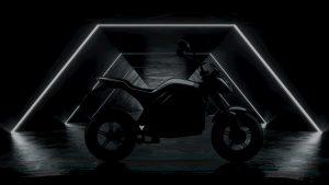 Voltz Motors EVS electric motorcycle side view teaser