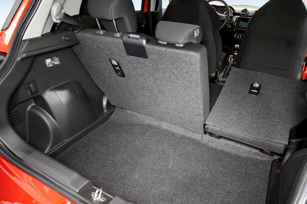 2020 Suzuki Swift Sport Hybrid boot rear seat folding official image