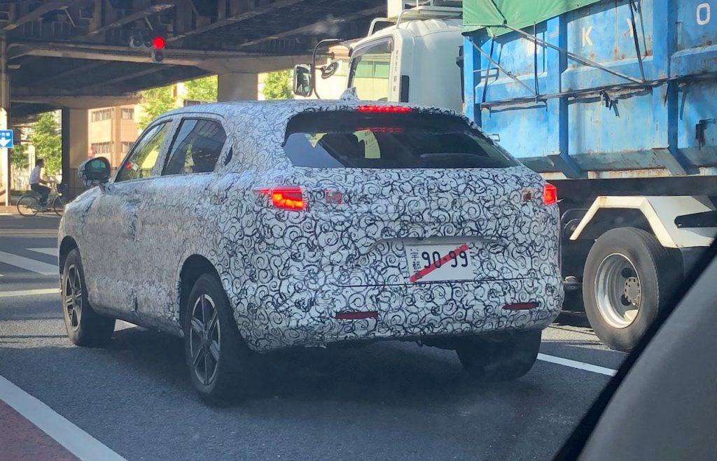 2021 Honda HRV Vezel rear quarters spied
