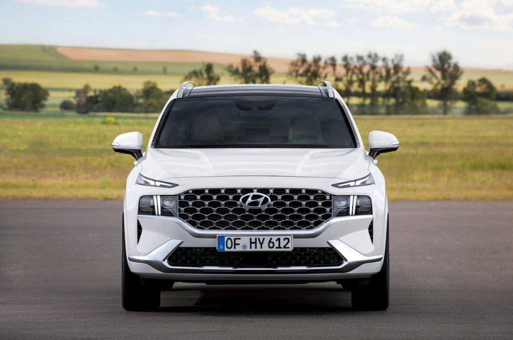2021 Hyundai Santa Fe Hybrid front fascia