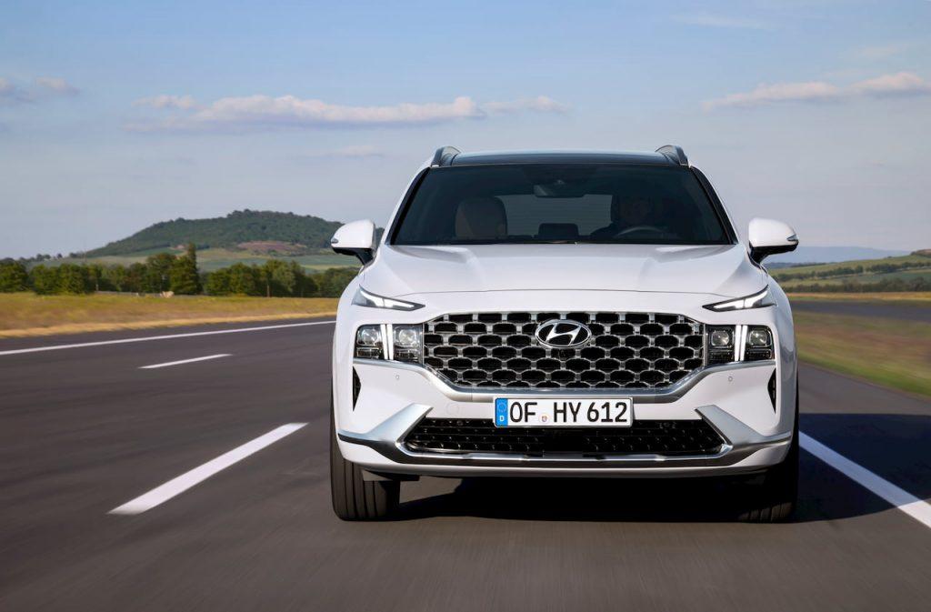 2021 Hyundai Santa Fe Hybrid grille headlamp front