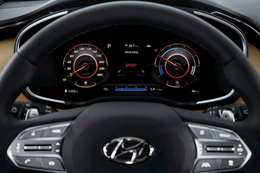 2021 Hyundai Santa Fe Hybrid instrument cluster