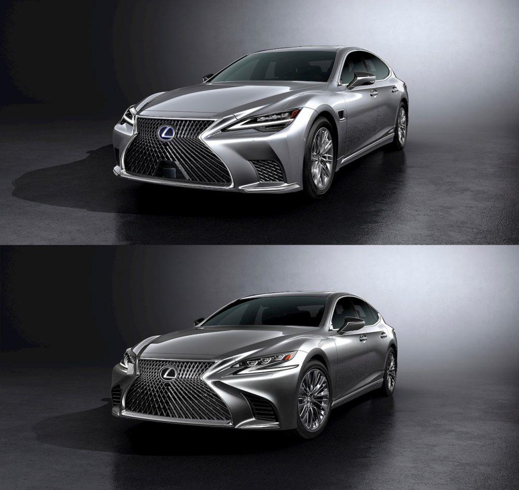 2021 Lexus LS front vs 2018 Lexus LS front
