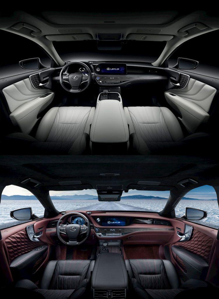 2021 Lexus LS interior vs 2018 Lexus LS interior