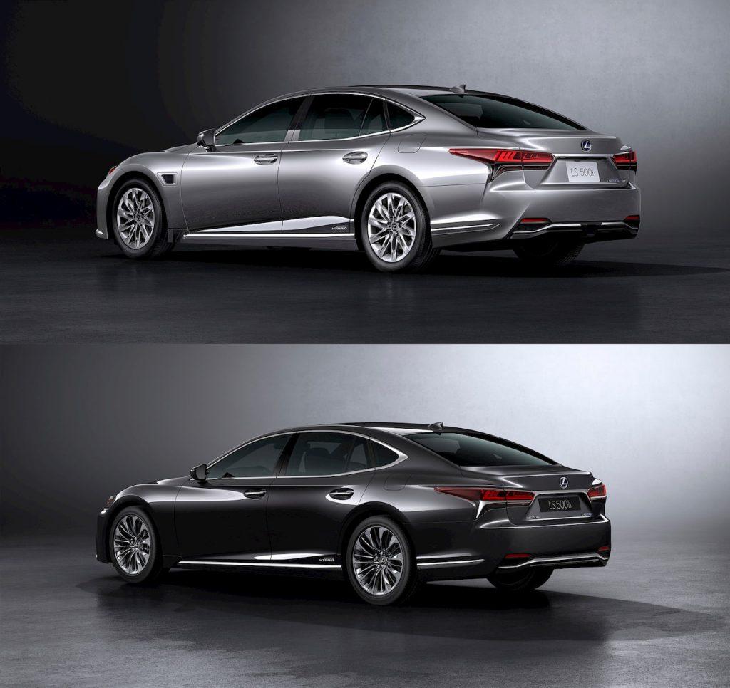 2021 Lexus LS rear vs 2018 Lexus LS rear