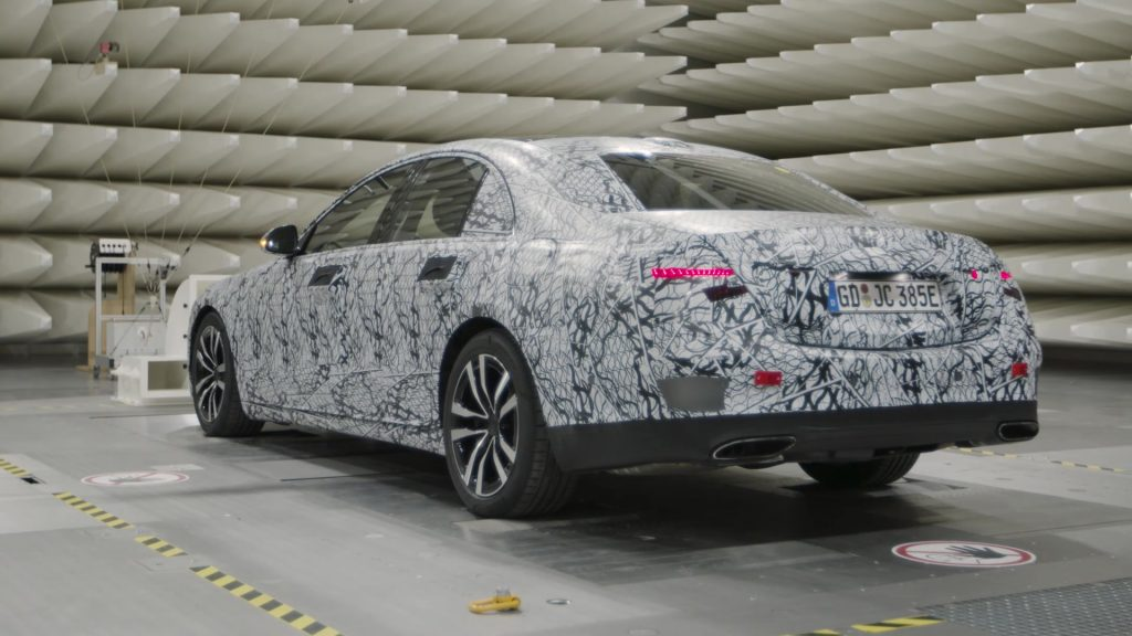 2021 Mercedes S-Class W223 test prototype rear