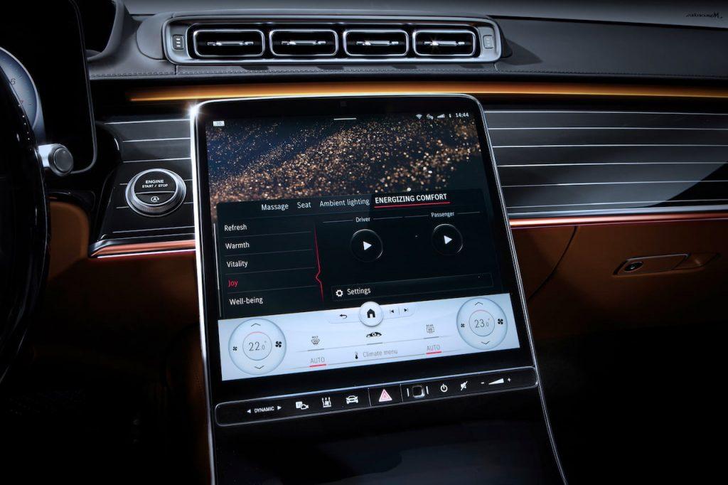 2021 Mercedes S-Class infotainment Energizing Comfort