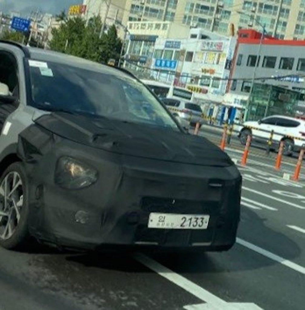2022 Kia Niro front fascia spy shot new