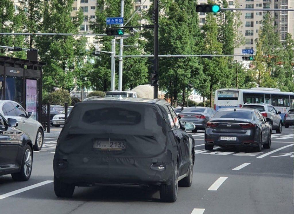 2022 Kia Niro rear quarters spy picture new