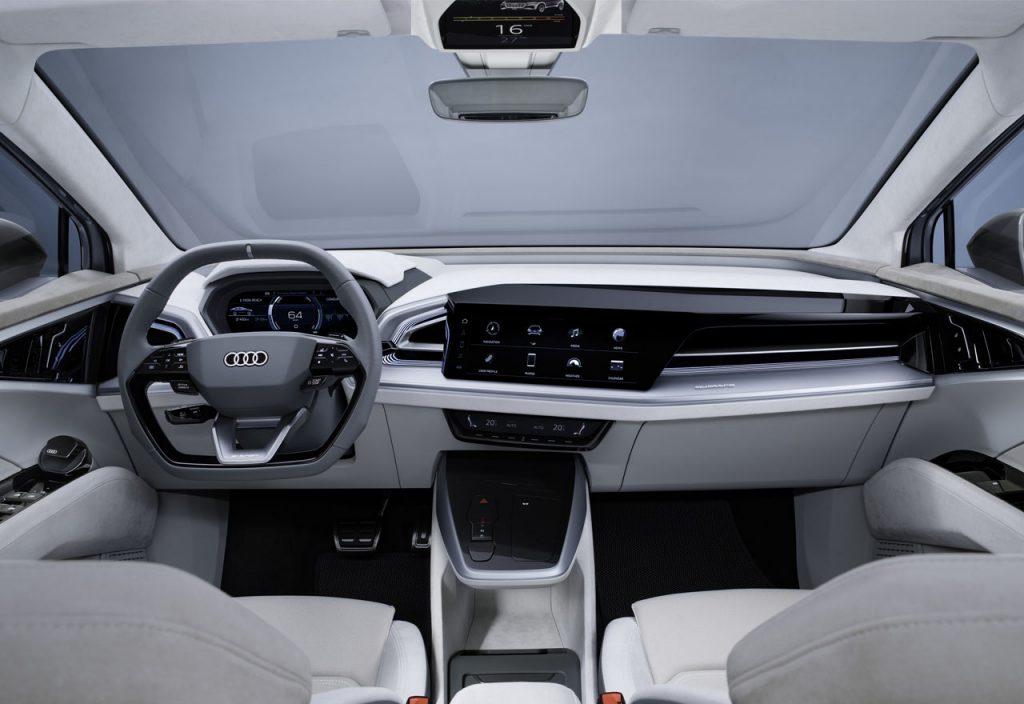 Audi Q4 Sportback e-tron dashboard