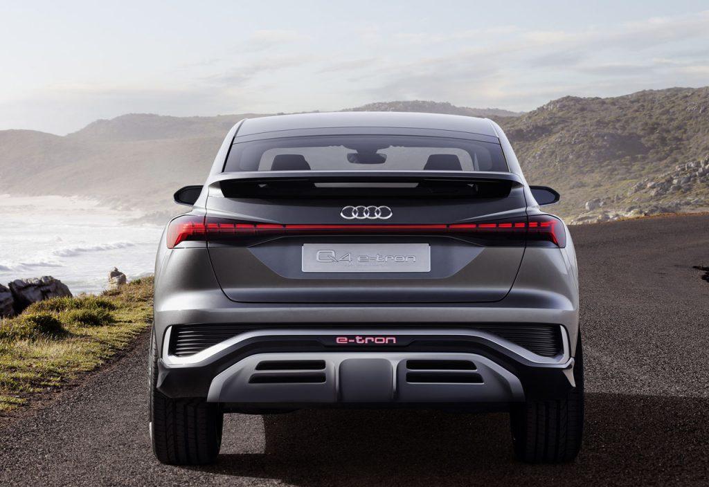Audi Q4 Sportback e-tron rear view