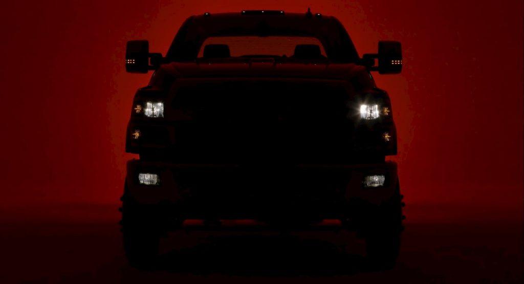 Chevrolet Silverado teaser front