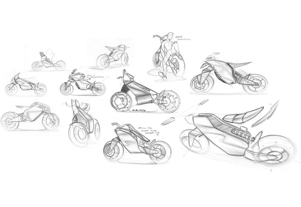 E-Mazda Bike Project sketches
