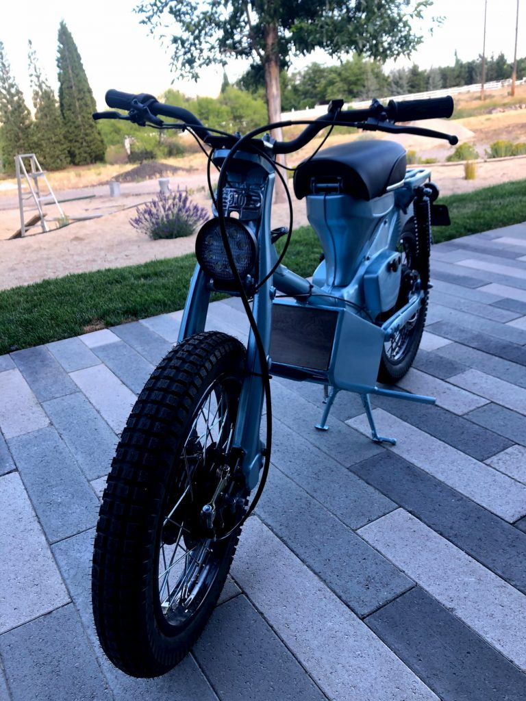 Honda CT90 electric conversion front quarter view 02