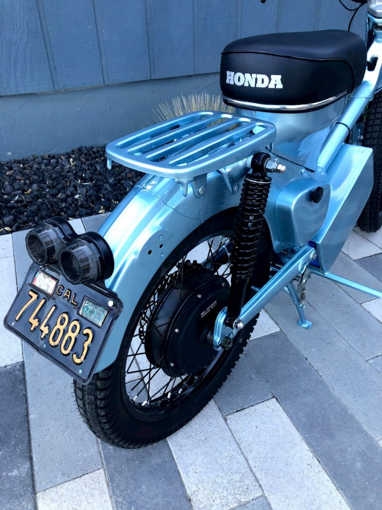Honda CT90 electric conversion rar wheel and luggage tray