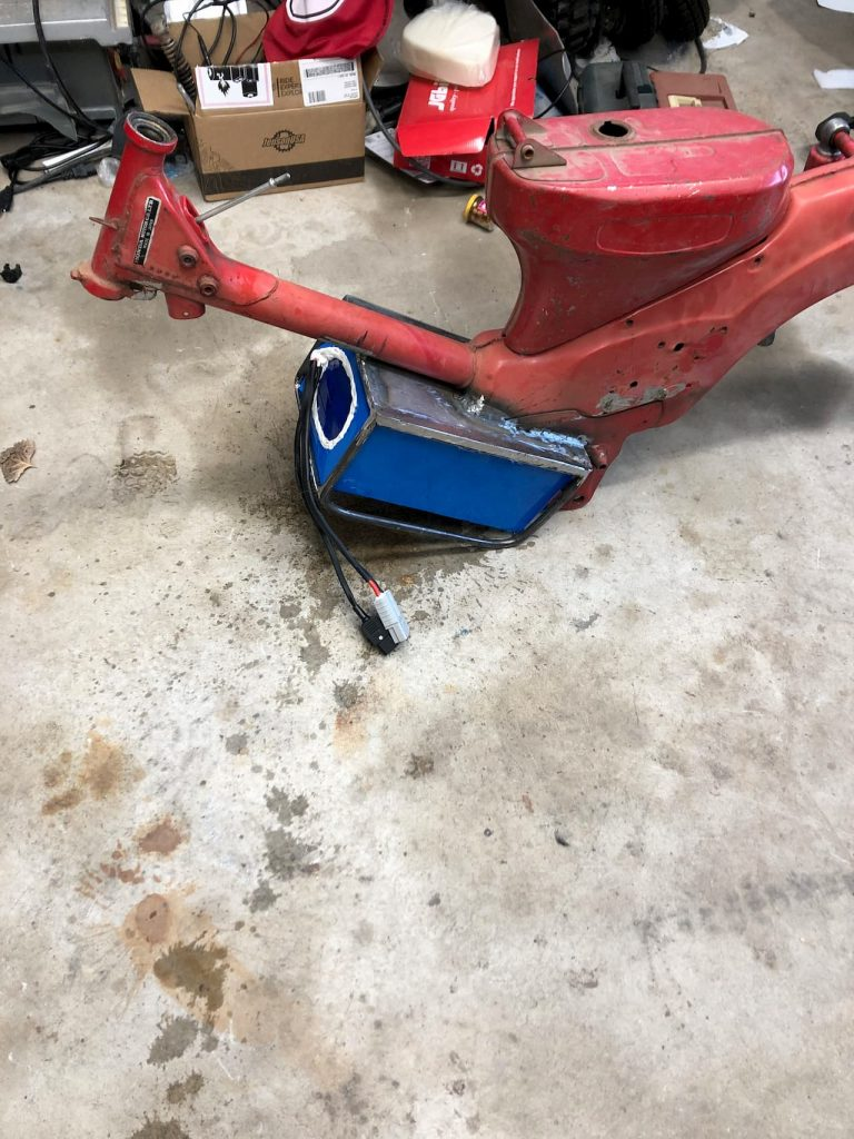 Honda CT90 frame electric vehicle conversion build process