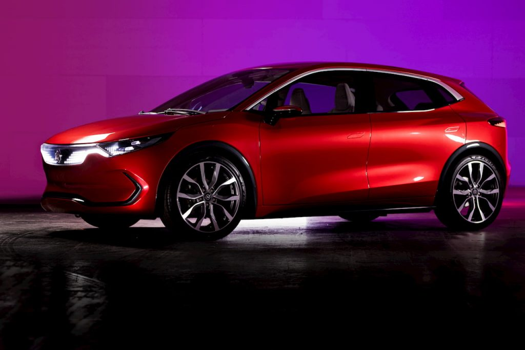 Izera electric hatchback front quarters