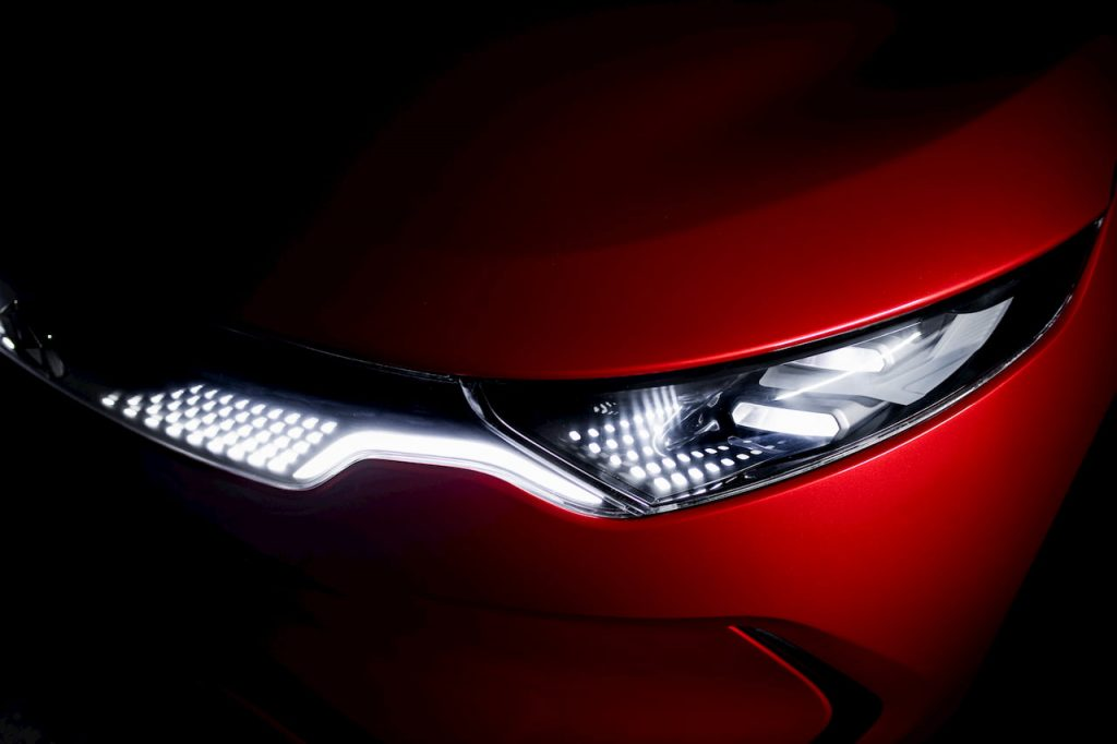Izera electric hatchback headlamp