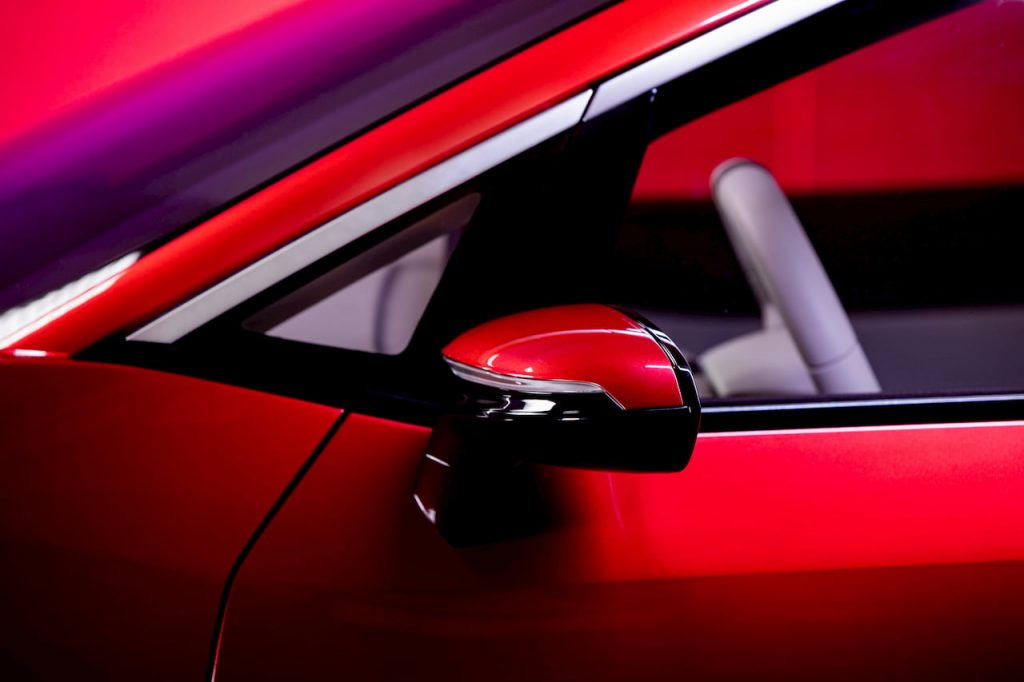 Izera electric hatchback mirror