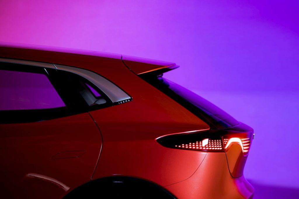Izera electric hatchback quarter panel