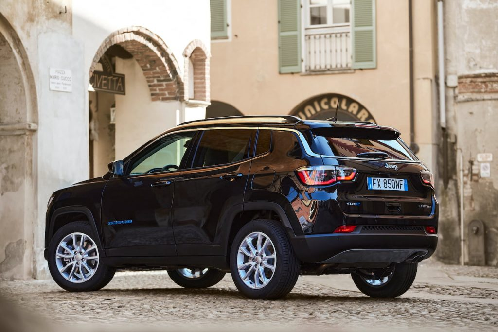 Jeep Compass 4xe plug-in hybrd rear quarters