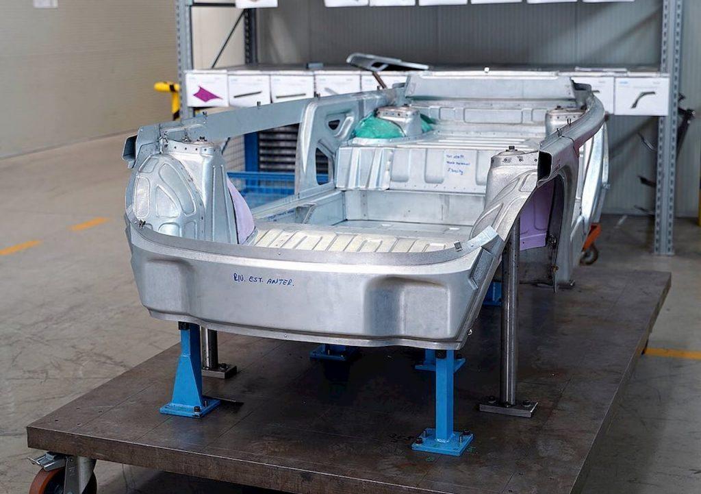 Microlino 2.0 prototype chassis
