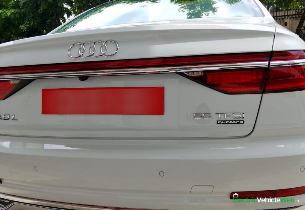 New 2020 Audi A8L 55 TFSI rear in India