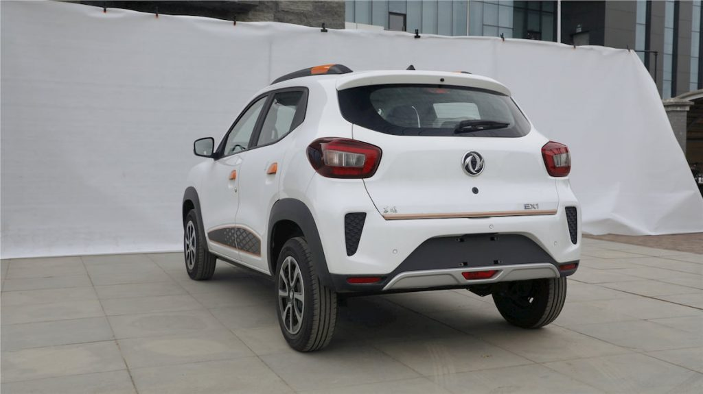 New Dongfeng EX1 rear quarters