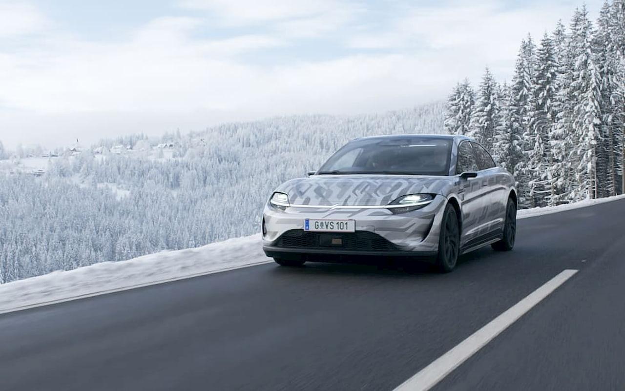 Sony Vision-S prototype public road testing Austria