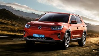 SsangYong E100 electric SUV 'e-motion' gets 400+ km range [Update]
