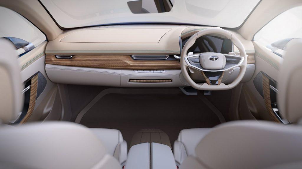 Tata EVision interior dashboard