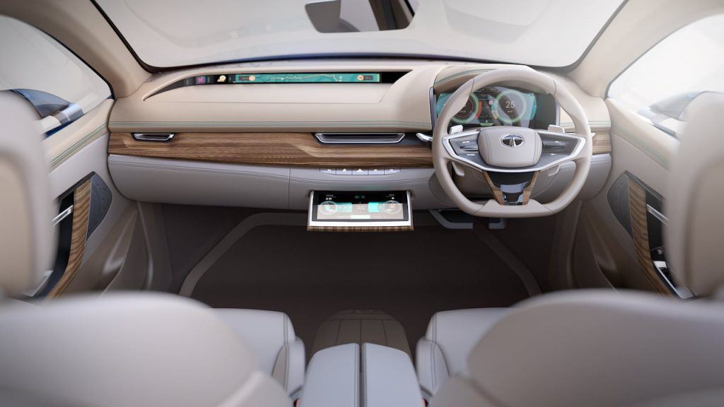 Tata EVision interior display screens on