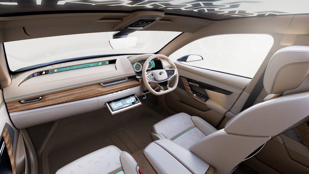 Tata EVision interior displays on