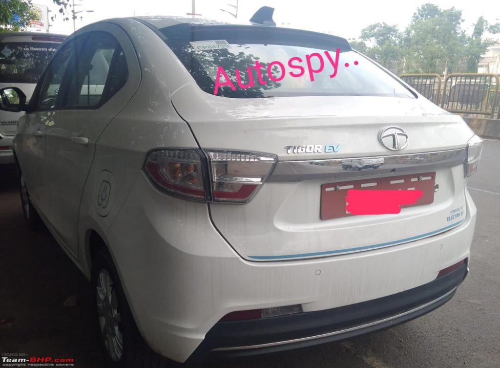 Tata Tigor EV rear quarter view Autospy