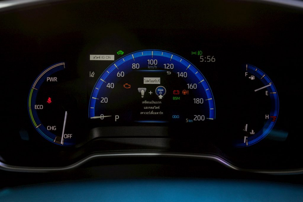 Toyota Corolla Cross Hybrid instrument cluster photo