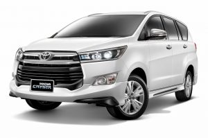 Toyota Innova Crysta front three quarters
