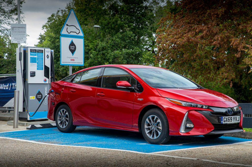 Toyota Prius Plug-in Hybrid PHV charging