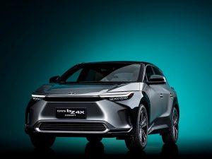 Toyota bZ4X concept front three quarters