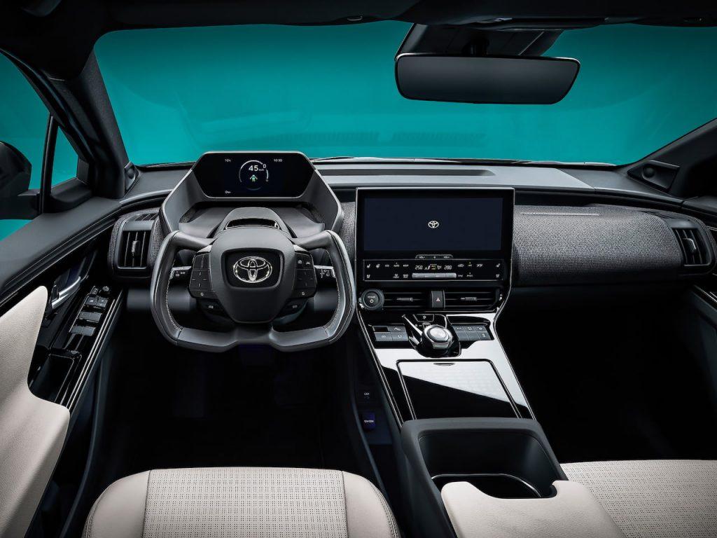 Toyota bZ4X concept interior dashboard