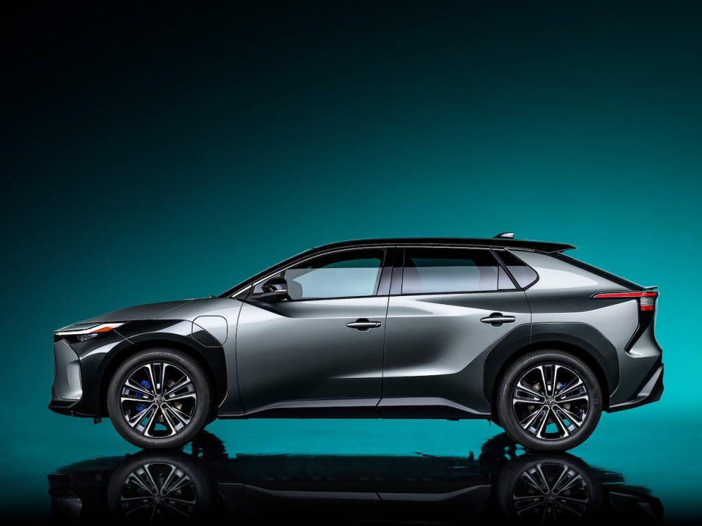 Toyota bZ4X concept side profile
