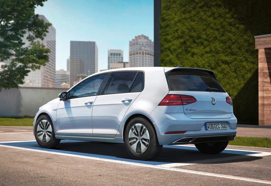 Volkswagen e-Golf rear quarter view