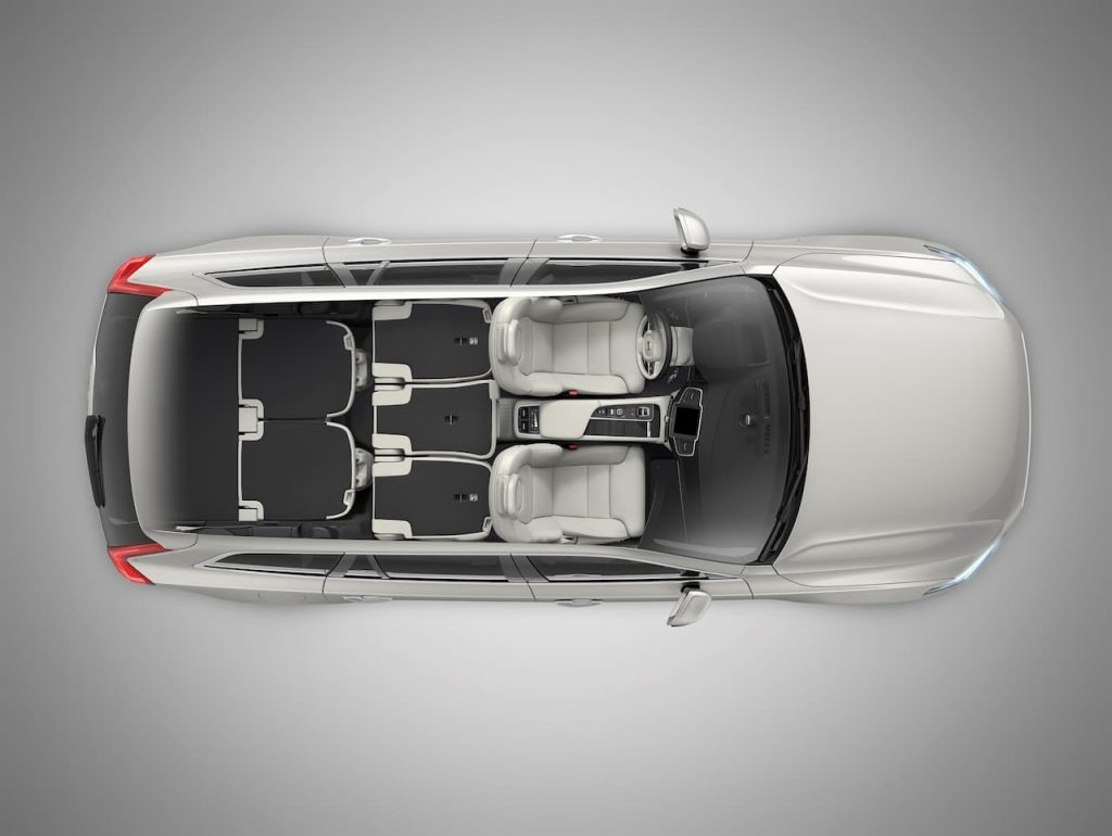 Volvo XC90 interior layout