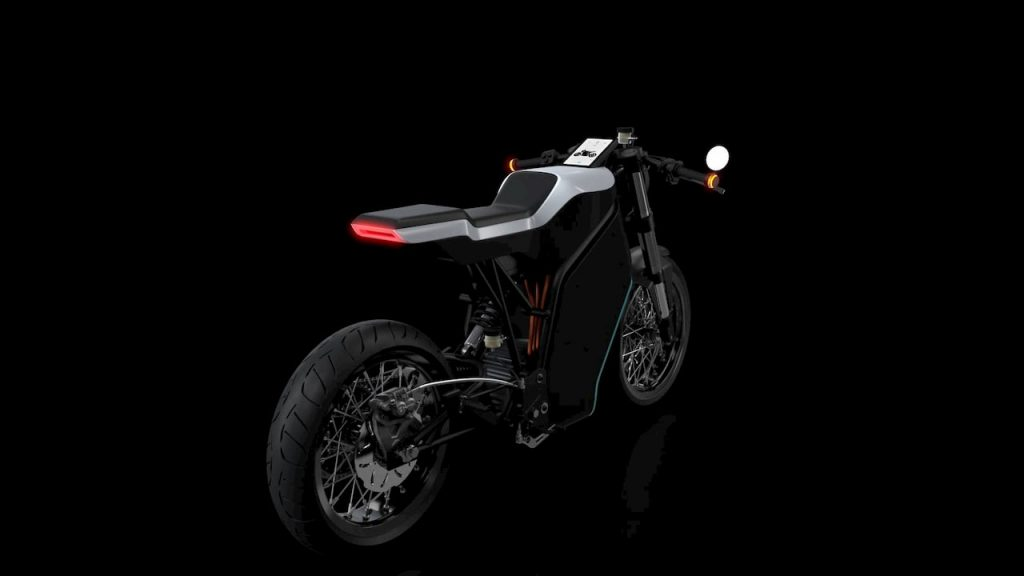 Yatri P-Zero electric motorcycle rear