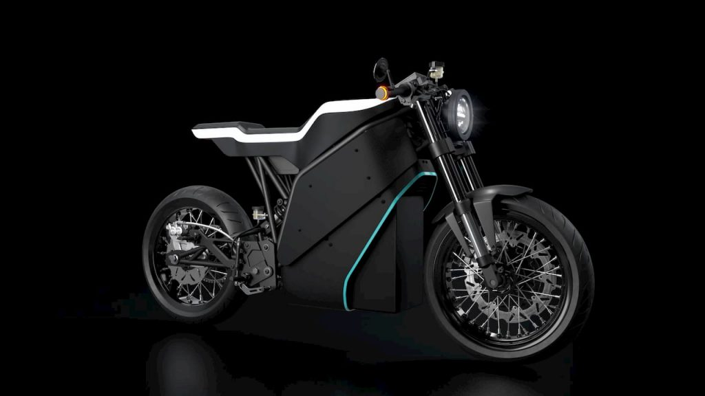 Yatri P-Zero electric motorcycle side angle