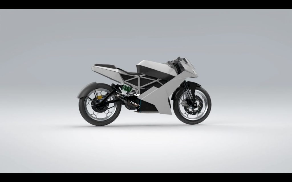 eMote Electric Surge Electric Bike 3D model side