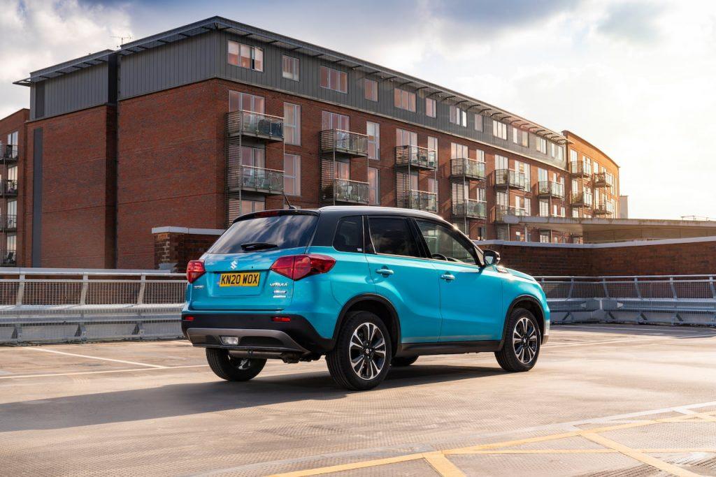2020 Suzuki Vitara mild hybrid rear quarters UK
