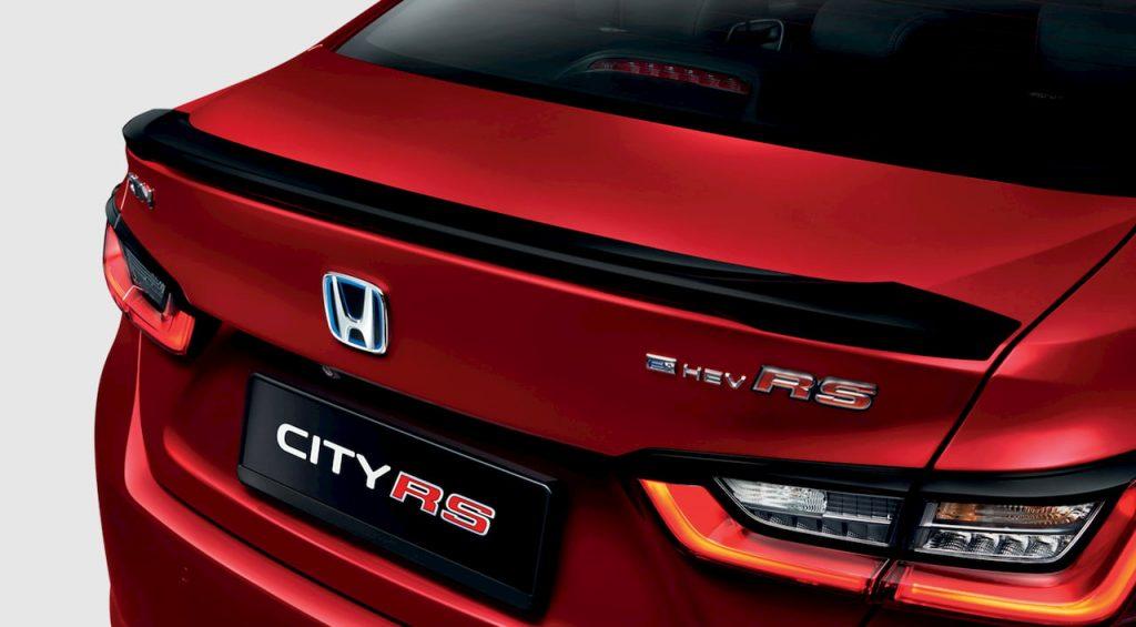 2021 Honda City Hybrid rear spoiler eHEV badge